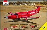 Aモデル 1/72 ピタラス PC-12/45単発ビジネス機 ボツワナ オカバンコ航空救助隊 プラモデル AM72256