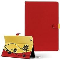 igcase d-01h Huawei ファーウェイ dtab ディータブ タブレット 手帳型 タブレットケース タブレットカバー カバー レザー ケース 手帳タイプ フリップ ダイアリー 二つ折り 直接貼り付けタイプ 004943 フラワー 花 フラワー シンプル