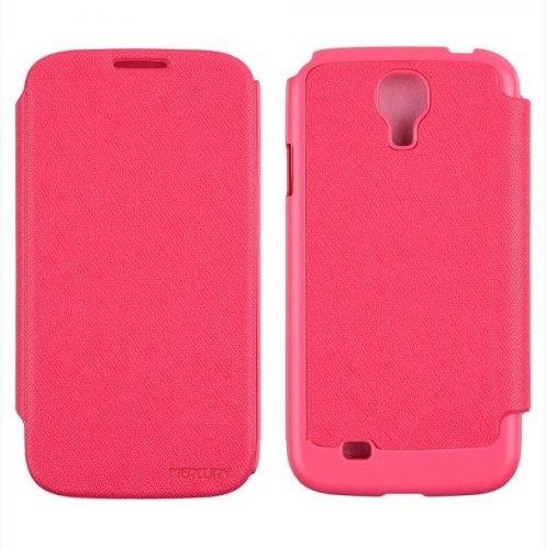 GALAXY S4 レザーフリップケース (docomo GALAXY S4 SC-04E/Samsung Galaxy S IV 対応 By Mercury) GOOSPERY FANCY Flip Style (ワンセグ対応/ICカード収納/画面保護フラップ) Pink(ピンク)