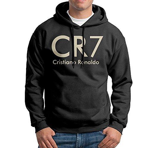 ZMONO 男性着 クリスティアーノ ロナウド サッカー CR7 ロゴ スウェットシャツ フード付き モダン プルオーバーパーカー トレーニング M