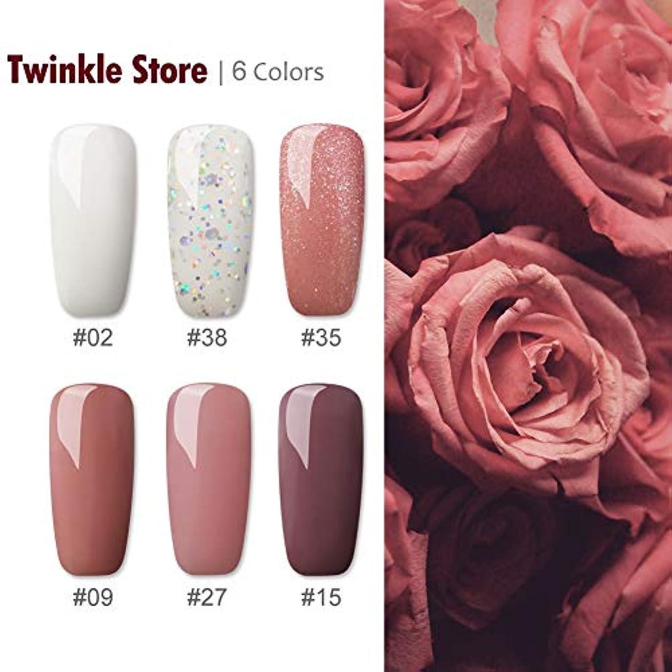 ドキドキ自己言及するTwinkle Store カラージェル 6色套装 8 ml カラージェルキット UV/LED 适用 ネイルアートジェルで簡単に DIY #3