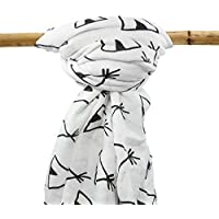 Organic Bamboo Muslin Swaddle Blanket - Oversized - Excellent Baby Shower Gift - Premium Breathable Receiving Blanket [並行輸入品]