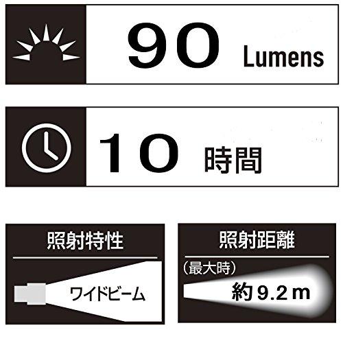 GENTOS(ジェントス) 懐中電灯 フルークス ネオ 【明るさ90ルーメン 実用点灯10時間】 LU-707