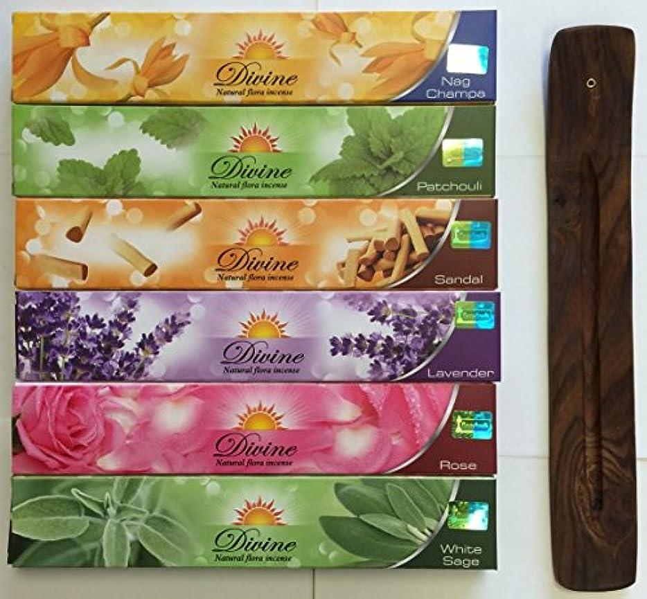 侮辱子供時代きらめきGift Set of 6 Nag Champa Sandalwood Patchouli Rose Lavender and White Sage Incense Kit(incense Holder Included...