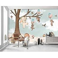 caomei 子供部屋の壁紙子供の寝室の壁紙の漫画の動物の写真の壁紙の壁画3Dの自己接着ビニール/シルクの壁紙@ 4