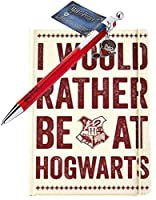 Harry Potter ペン And Notebook I Would Rather Be At Hogwarts 公式 Gift Set Size A5