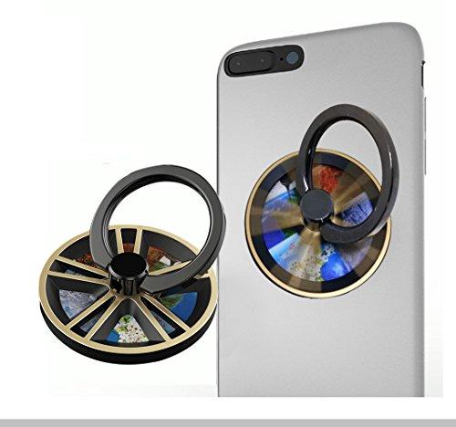 ジャイロ指先 携帯電話ブラケット スマホリング ハンドスピナー ホールドリング 指スピナー ストレス解消 360度回転 水洗い 粘着力抜群 スタンド機能 iPhone/Android各種対応. (ゴールデン)