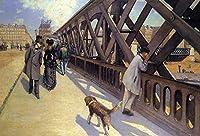 手描き-キャンバスの油絵 - The Pont du Europe Gustave Caillebotte 芸術 作品 洋画 ウォールアートデコレーション -サイズ08