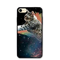 IPhone8 ケース スペース猫キャット アイフォン8 4.7inch おしゃれ 薄型 超軽量 防塵 高耐久性 携帯カバー スマホケース