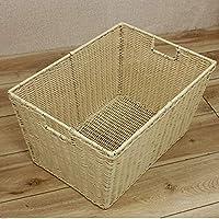 DCAH ストレージバスケットプラスチック籐汚れた服ストレージバスケットデブリ保管バスケット Laundry basket (色 : 白)