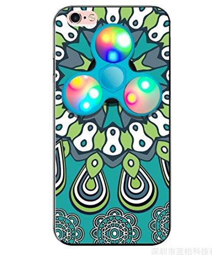 日本未発売 SPRING COME®正規品 [LEDハンドスピナー付き民族風PCスマホンケース」LED 光る 華やか 豪華 ピカピカ 高回転 耐久フォーカス玩具 iphone 5/SE /IPhone6s iPhone6 7 8 PLUS/ iphone7 7s 8 軽量 ウルトラ スリム 超薄型 プラスチック メッキ 360度保護 全面的保護機能  Hand Spinner Fidget Spinner ハード バック ケース アイホン5 アイホンSE / アイフォン6s / 6アイフォン6 / 6s / 7 8プラス カバー スマホケース スマホカバー (アイホン7/8プラス, 2) [並行輸入品]