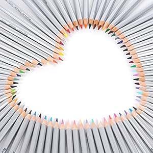 KINGTOP 色鉛筆 72色セット 子供/大人の塗り絵用 文具 お絵描き イラスト描き プレゼント向き (72セット)