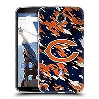 オフィシャル NFL カモフラージュ シカゴ・ベアーズ ロゴ ソフトジェルケース Motorola Nexus 6 / Nexus X
