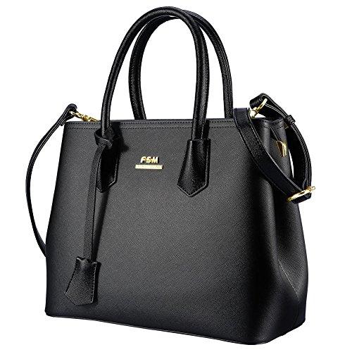 Fosa ハンドバッグ レディース バッグ チャーム付き 手提げバッグ ショルダーバッグ 2way 大容量 ビジネス フォーマルバッグ