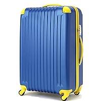 (トラベルデパート) 超軽量スーツケース TSAロック付 (Lサイズ(86L), ネイビー)