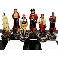 Pirates Vs Royal Navy Pirate Chess Men Set - No Board