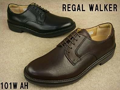 ブラック 23.5 REGAL WALKER リーガルウォーカー 101W AH ダブルモンク ビジネスシューズ