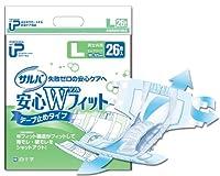 【まとめ買い】サルバ 安心Wフィット 男女共用 Lサイズ 26枚入(大人用紙おむつ テープ式) ×2セット