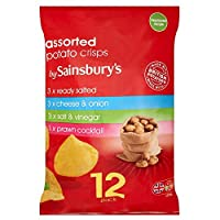 (Sainsbury's (セインズベリー)) 古典的なさまざまなポテトチップス12X25G (x2) - Sainsbury's Classic Variety Crisps 12x25g (Pack of 2) [並行輸入品]