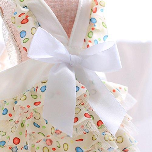犬服 犬の服ワンピース ドッグウェア 可愛いドット柄 シフォンキャミソール 春夏用 Sサイズ~XLサイズ (M)
