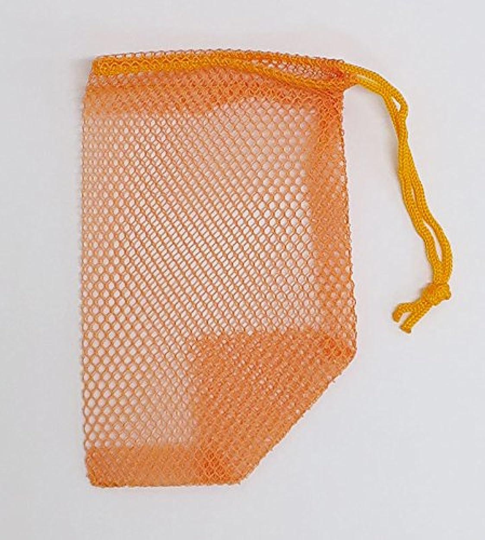 早く与える遡る石けんネット ひもタイプ 20枚組 オレンジ