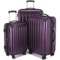 Hauptstadtkoffer Alex Set of 3 Luggages Suitcase Hardside Spinner Trolley Expandable TSA, Purple, Set