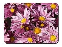 紫の花 パターンカスタムの マウスパッド 植物・花 (26cmx21cm)