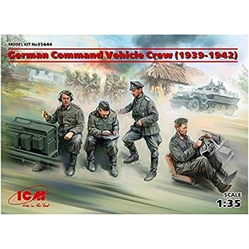 Amazon   ICM 1/35 ドイツ陸軍 装甲指揮車 クルー 4体入り(1939年-1942 ...