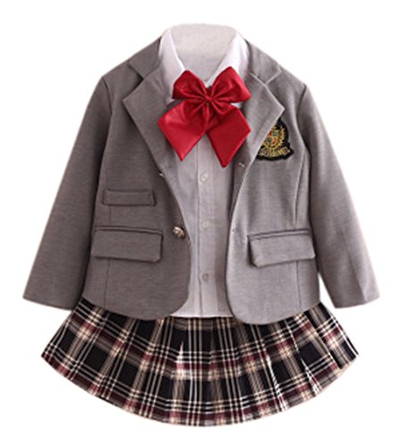 C-Princess 子供服 女の子 フォーマル スーツ シャツ スカート 3点セット キッズ ジュ...