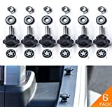 GPCA Tie-Down D-Rings/D-Plates for Jeep Wrangler JK JKU Sport Sahara Rubicon Unlimited 2Door/ 4DR, 6-Pack (6 Pack Quick Release)
