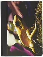 Rikki Knight Macro Frog Faux Suede Notebook Binder Portfolio (Ruled Notebook included) [並行輸入品]