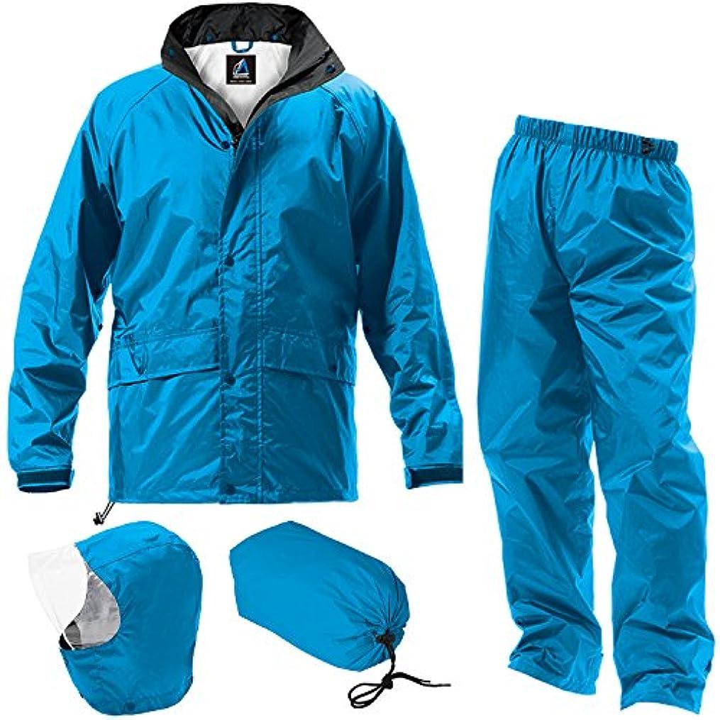 国民独立忌まわしいマック フェニックス 2 全4色 7サイズ レインスーツ 上下 ブルー L 防水透湿コーティング 2レイヤー 止水テープ AS-7400