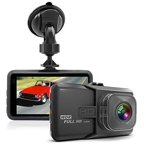 TmDeken ドライブレコーダー 車載カメラ ビデオカメラ 1080PフルHD 300万画素 3インチ 120°広角 Gセンサー搭載 エンジン連動 WDR 動き検知 駐車監視 常時録画 日本語説明書付き