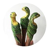 Home-organizer Tech木製キャラクター ボールペン ジェルインク 筆記用ペン オフィス 学校 学生 動物園 アニマル コレクション 子供や大人への手頃で素晴らしいギフト