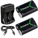 Smatree Xbox One  Elite  X  Sコントローラー用2000mAh大容量バッテリー2個 急速充電器付き 充電式電池 2個同時充電が可能