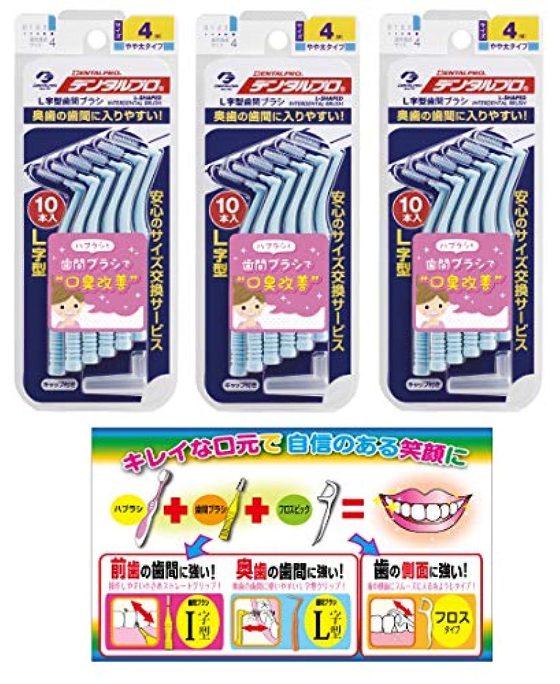 姪スパーク鋼【Amazon.co.jp限定】DP歯間ブラシL字型10本入サイズ4 3P+リーフレット