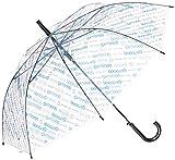 アウトドアプロダクツ [アウトドアプロダクツ]OUTDOOR ビニール傘 斜めロゴストライプ柄 全3色 親骨60cm 長傘 ブルー 10001053
