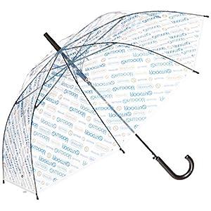 [アウトドアプロダクツ]OUTDOOR ビニール傘 斜めロゴストライプ柄 全3色 親骨60cm 長傘 ブルー 10001053