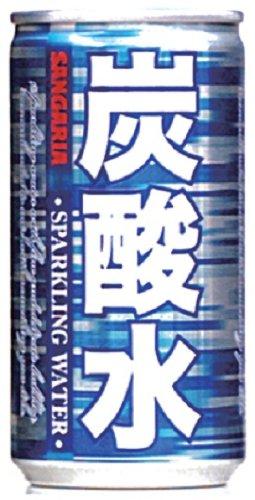 サンガリア 炭酸水 185ml×30本