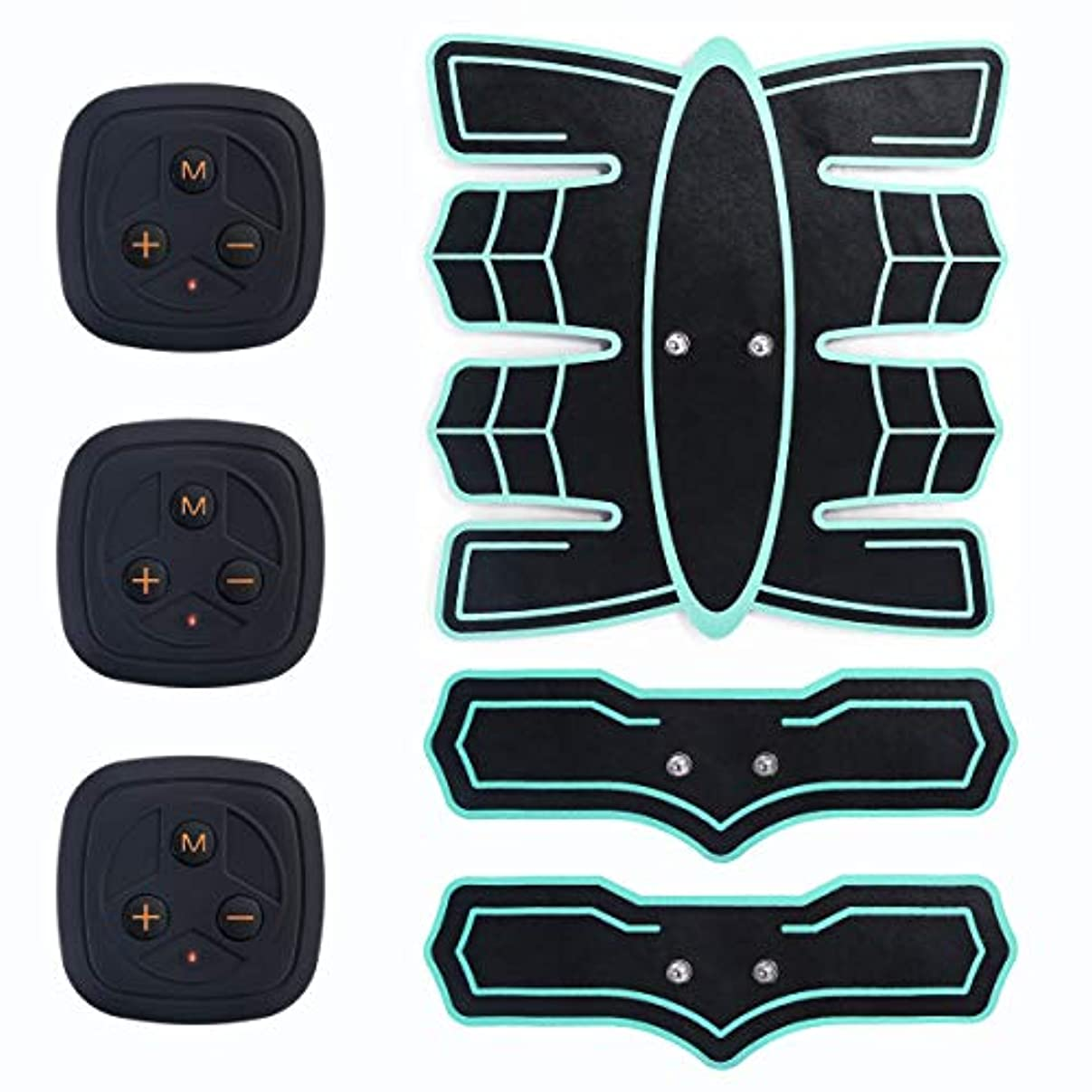 不均一ライトニング助けてマッサージクッション腹筋刺激装置、ウエストトレーニングポータブルトレーニング、腹部/腕/脚のトレーニングのためのホームオフィスフィットネス機器(USB充電)
