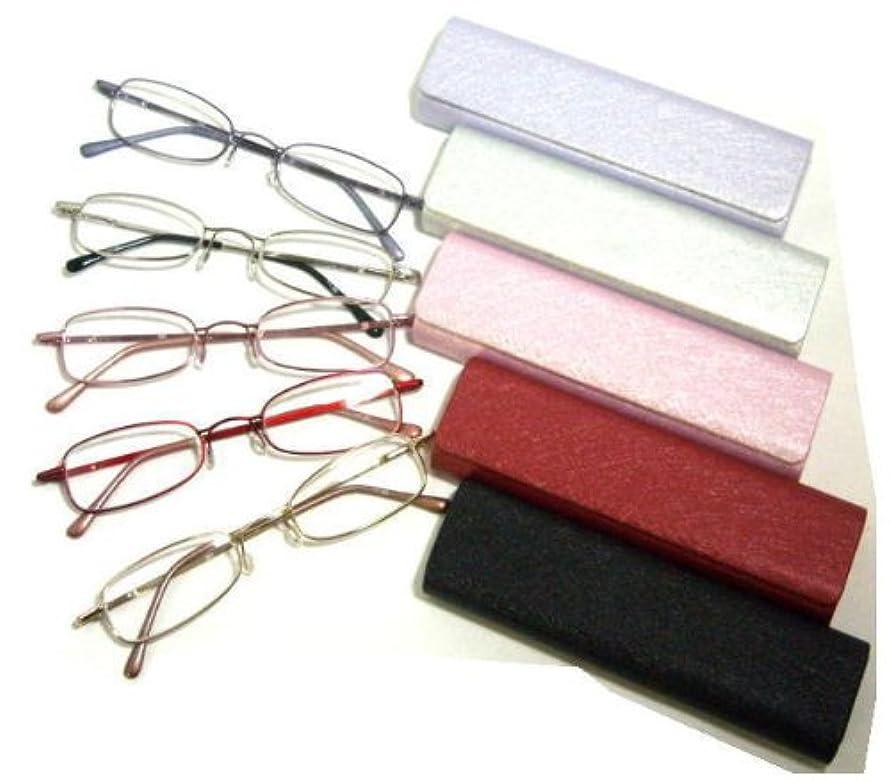 お洒落なシニアグラス携帯老眼鏡(312) (+3.00, ブラック/ゴールド)
