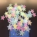 FISTE 夜光ステッカー 蓄光 星空ウォールステッカー シール かわいい星 壁紙 約100枚入 カラフル