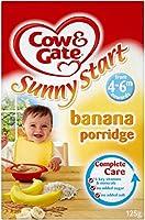 Cow & Gate Sunny Start Banana Porridge 4-6mth+ (125g) 牛とゲート日当たりの良いスタートバナナ粥4-6Mth + ( 125グラム)