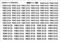 シンプル!お名前アイロンシール【濃色布用】 80片 名入れ オーダー/衣類に貼れる 洗える ひらがな 漢字