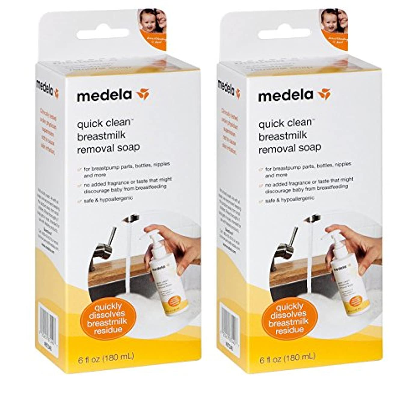 アルバム閉じ込める外出Medela Quick Clean Breastmilk Removal Soap, 2 - 6 Ounce Bottles by Medela