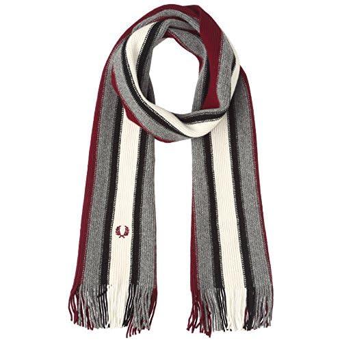 (フレッドペリー)FRED PERRY(フレッドペリー) COLLEGE STRIPE 2 C7117 106 106MAROON 1SZ スカーフ