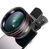 Mactrem カメラレンズ 0.45倍 120° 超広角レンズ クリップ式 魚眼レンズ スマホレンズキット ケラレなし iPhone/Sony/Samsungなどスマホ対応