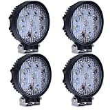 (スタンセン) Stansen LEDワークライト LEDライトバー オフロード 防水作業灯 CREE製27W 9連10-30VDC対応(12V/24V兼用)丸型 4個セット [並行輸入品]