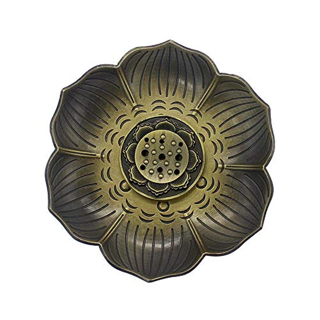 発言する省略出しますMyLifeUNITブロンズLotus Incenseホルダー、多目的香炉お香の円錐、またはコイル