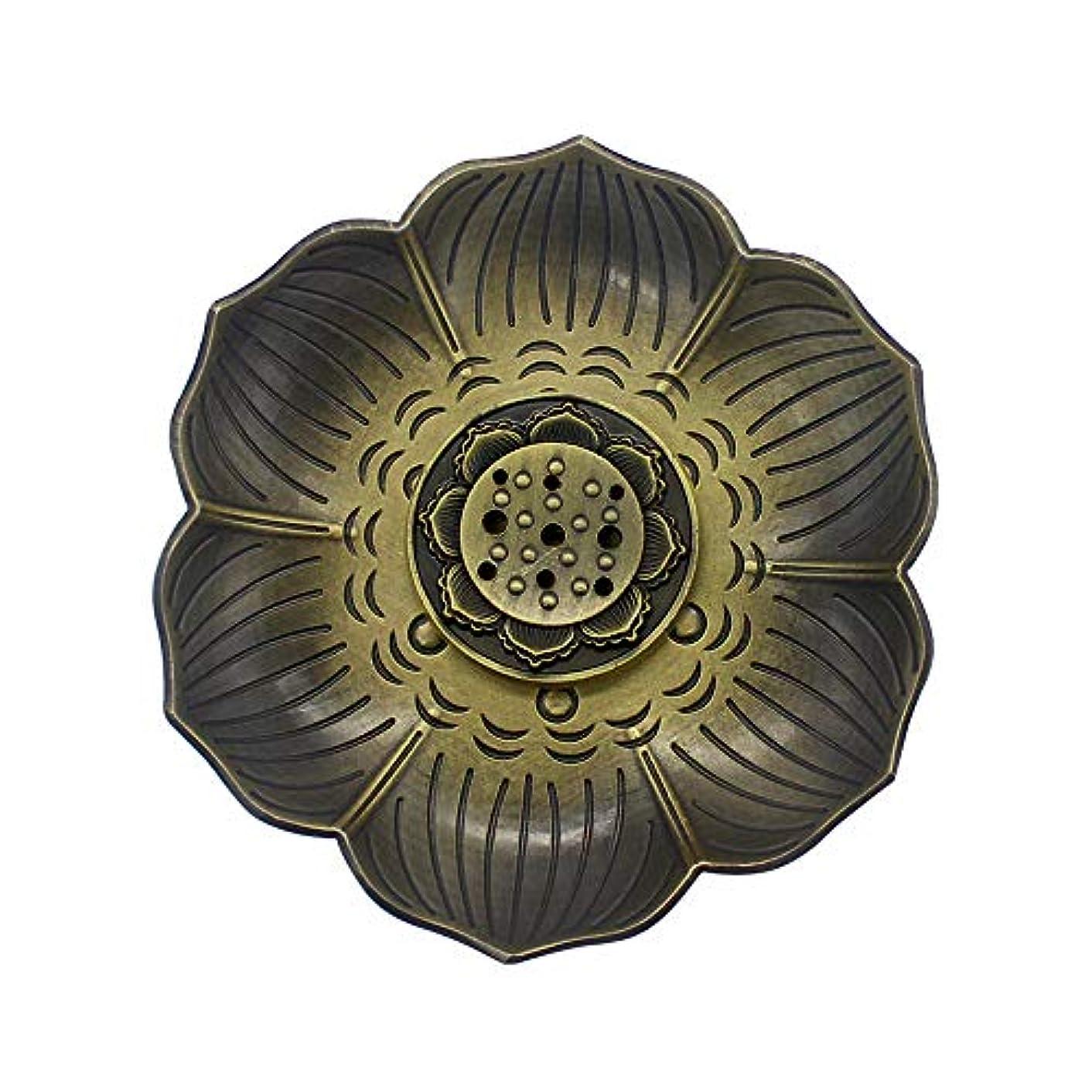 祈る変化するポテトMyLifeUNITブロンズLotus Incenseホルダー、多目的香炉お香の円錐、またはコイル